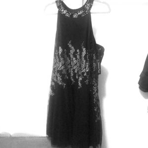 Black and Silver Sparkle Teeze Me Dress